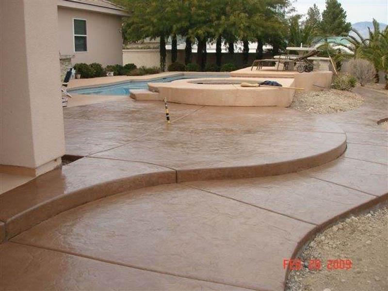 pool decking concrete
