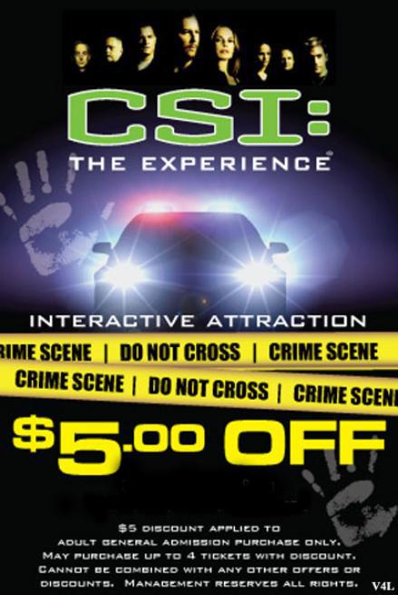 CSI: The Experience Las Vegas Coupon MGM Grand Hotel