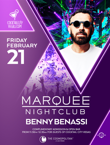 Benny Benassi VIP Experience at Marquee