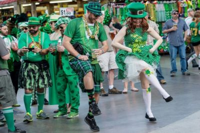 Fremont Street Experience St. Patrick's Day