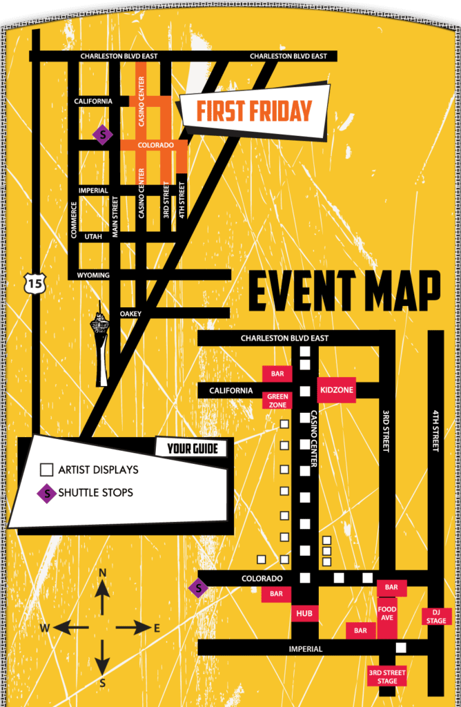 First Friday Las Vegas Map