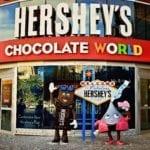 The Hershey's Chocolate World store in Las Vegas
