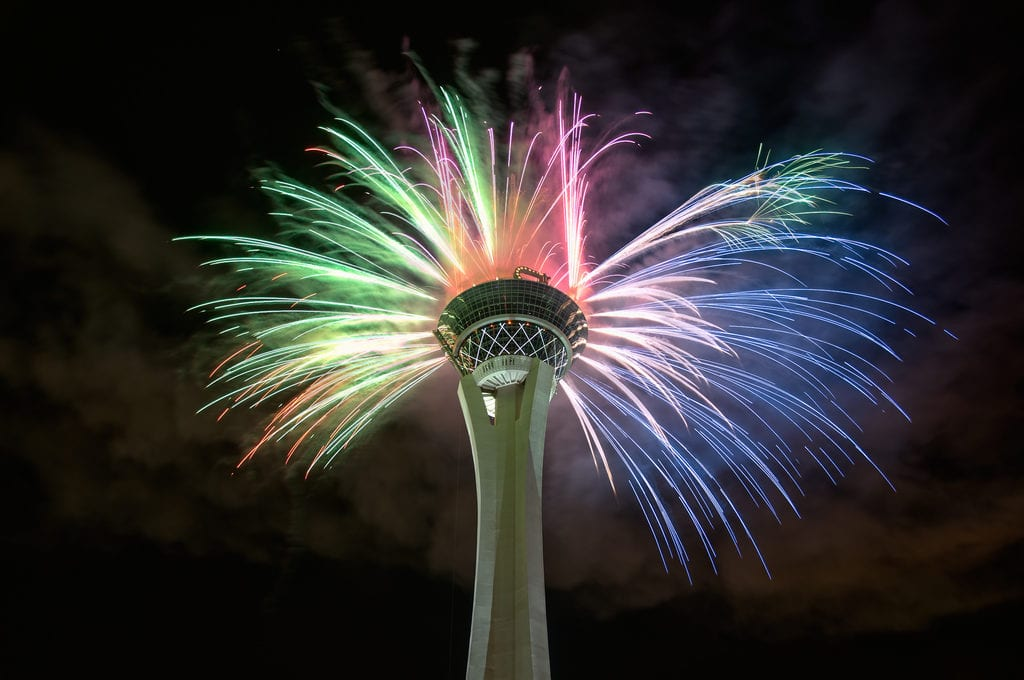4th of July Fireworks at the Stratosphere