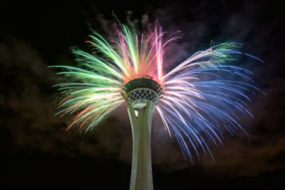 Fireworks at the Stratosphere