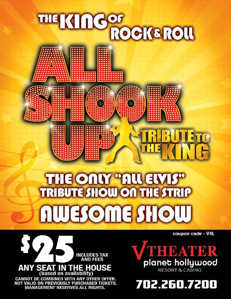 All Shook Up Show Coupon V Theater Planet Hollywood Las Vegas
