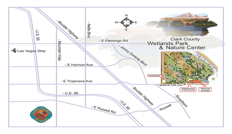 Clark County Wetlands Park Map