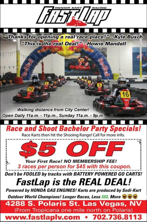 Fast Lap Las Vegas Indoor Cart Racing Coupon