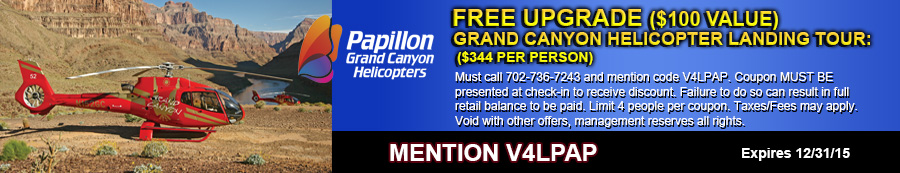 Grand Canyon Helicopter Landing Tour Coupon