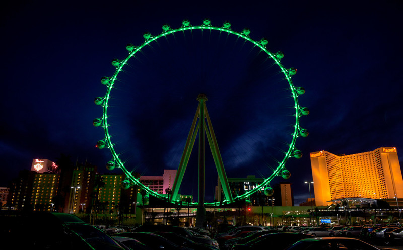 Green-High-Roller-St-Patricks-Day-Las-Vegas-LINQ