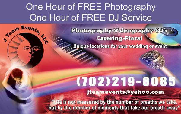 J Team Events Las Vegas wedding photography and DJ service coupon