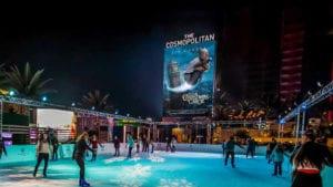 Movies Under the Stars Ice Rink Cosmopolitan Las Vegas