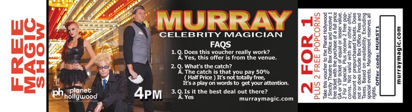 Murray Magic Coupon 2016
