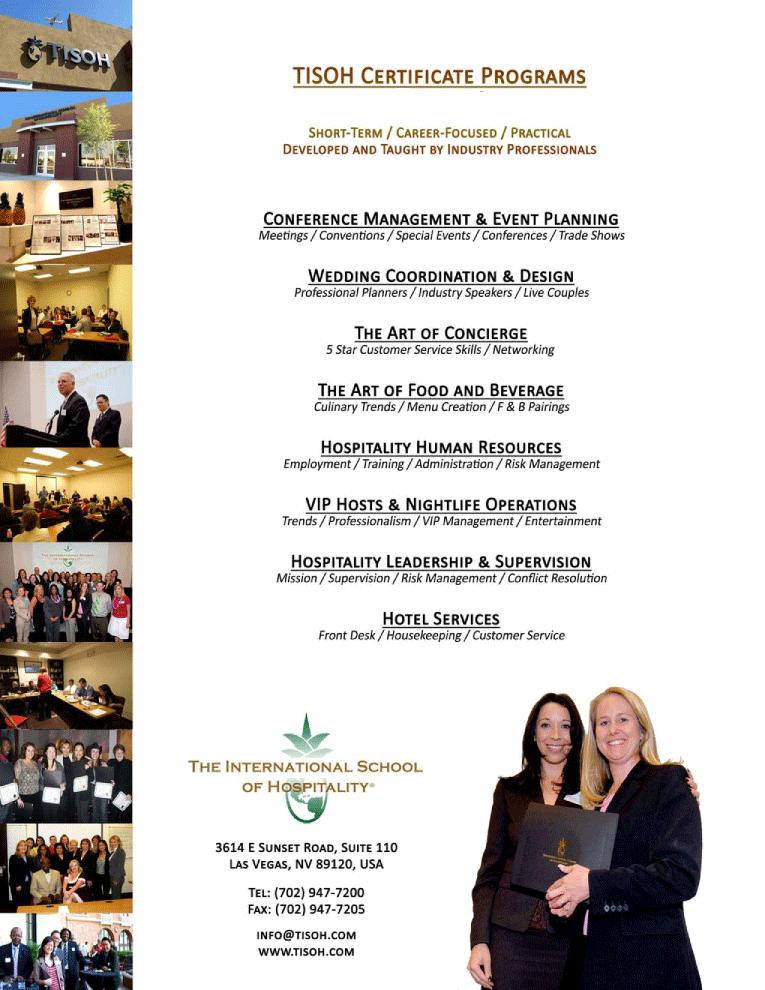 The International School of Hospitality