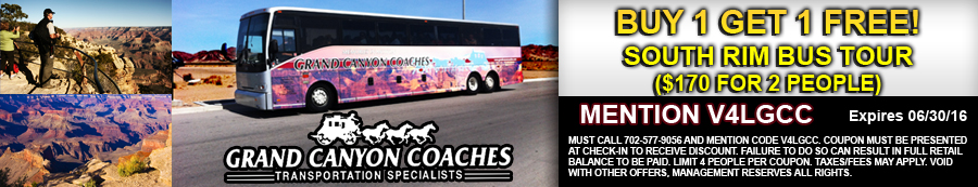 Grand Canyon South Rim Bus Tour Coupon