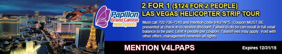 Las Vegas Helicopter Strip Tour Coupon