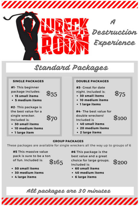 Wreck Room Packages