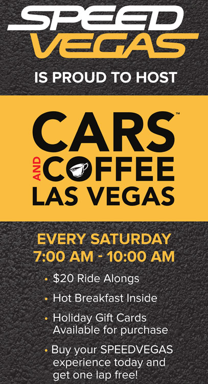 Cars and Coffee Speed Las Vegas