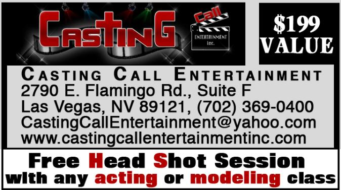 Casting Call Entertainment Coupon