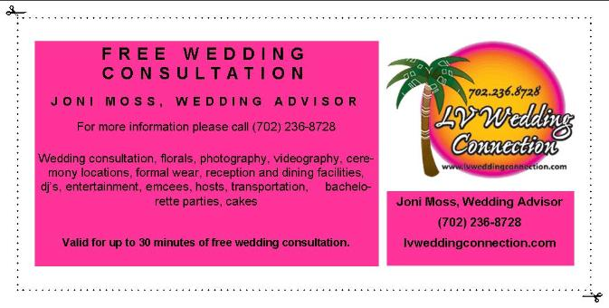 Free Las Vegas Wedding Consultation