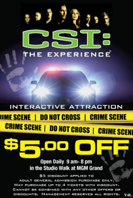 CSI: The Experience Las Vegas Coupon MGM Grand Hotel