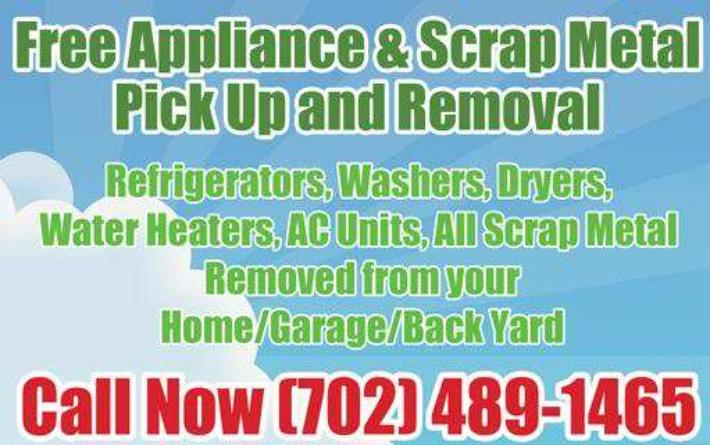 free appliance pick up in Las Vegas