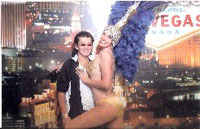 Harrah's Las Vegas free photo with a Las Vegas showgirl