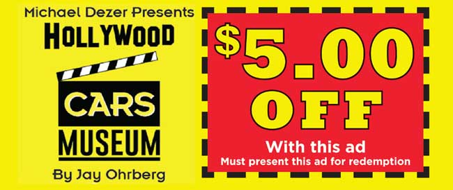 Hollywood Cars Museum Coupon 2015