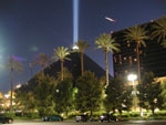 Luxor Light beam at Luxor Las Vegas